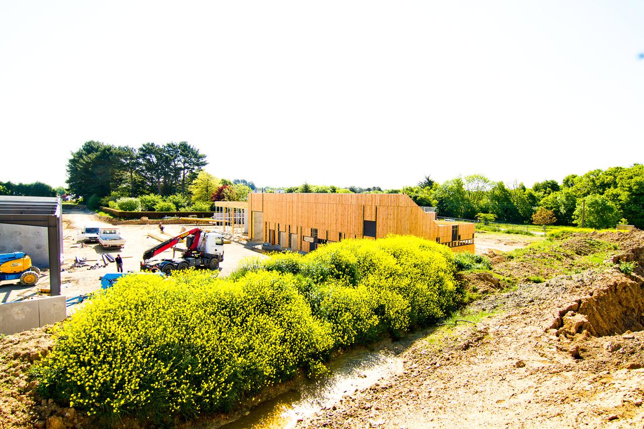 Services techniques municipaux - Moëlan sur Mer (29) - Charpente, Menuiserie, Ossature bois en Bretagne