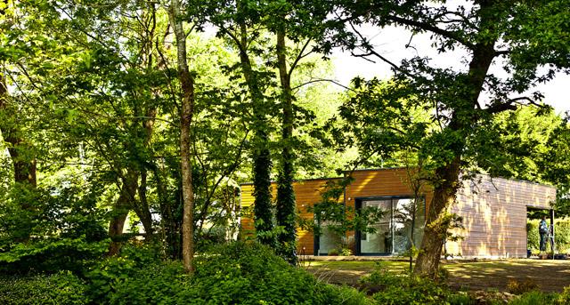 Maison niveau BBC à Bannalec (29) - Charpente, Menuiserie, Ossature bois en Bretagne