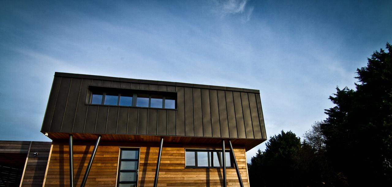 Maison d'architecte à Cléguer dans le Morbihan (56) en Bretagne - Réalisation 2012