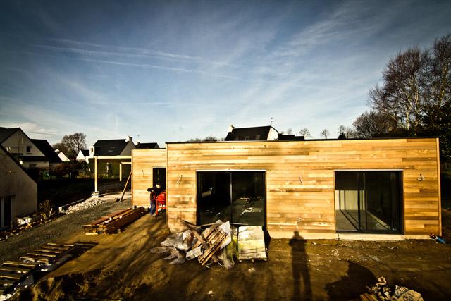 Maison BBC - Mellac (29) - Charpente, Menuiserie, Ossature bois en Bretagne
