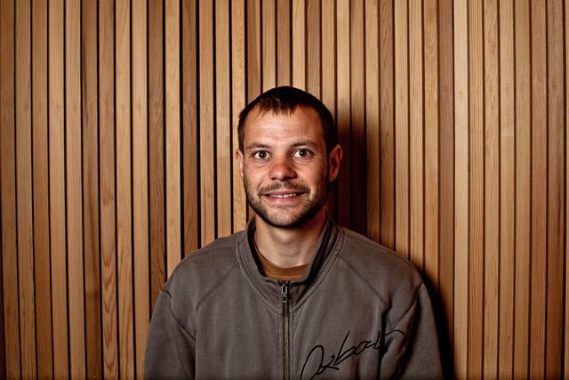 William Offret (chef d'atelier ossature bois)